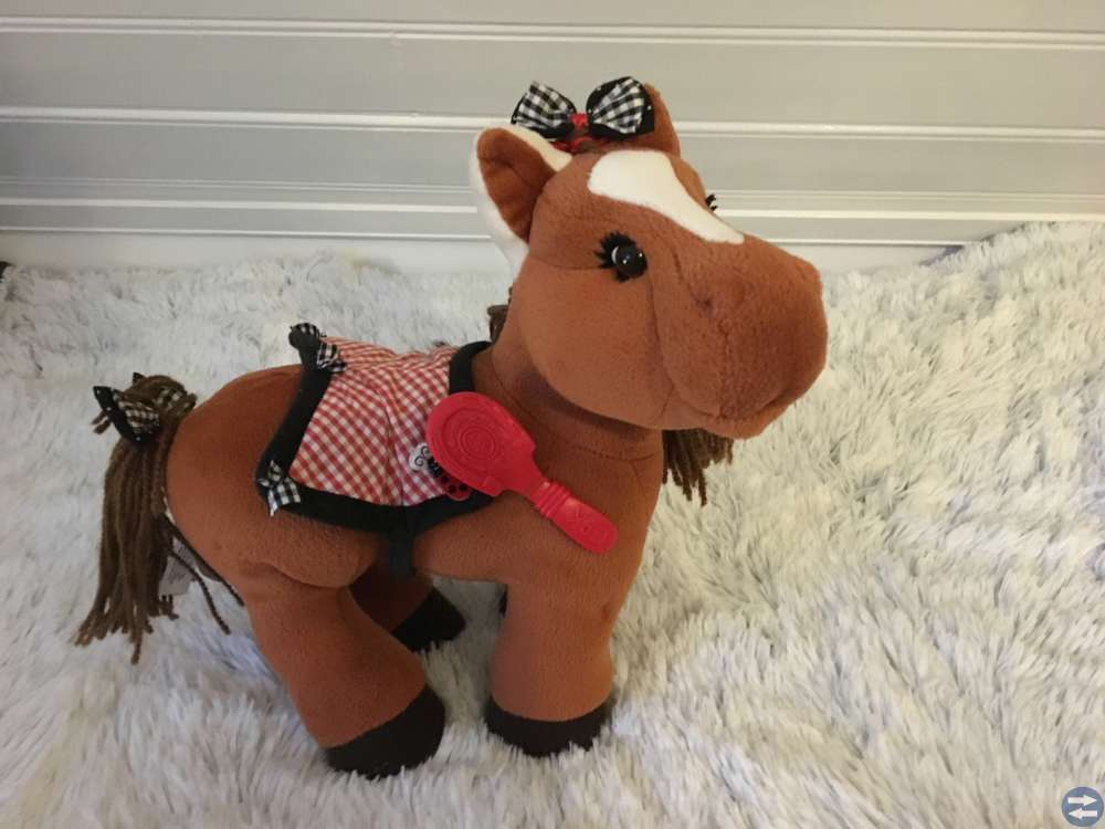 Gosedjurs häst med borste