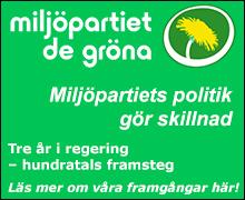 Miljöpartiets politik gör skillnad